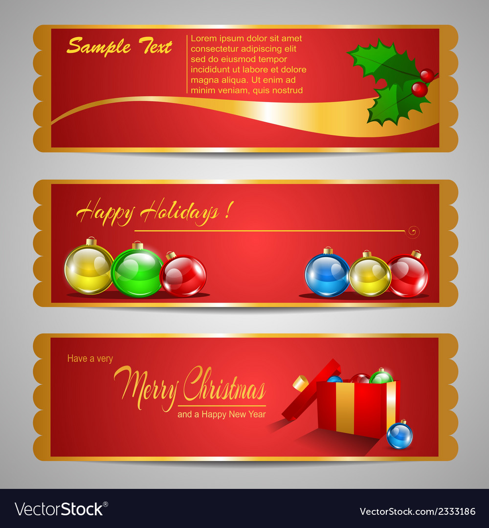 Holiday banners vector | Price: 1 Credit (USD $1)