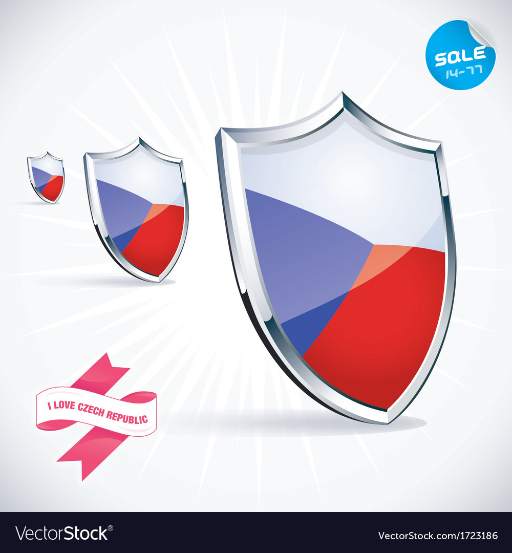 I love czech flag vector | Price: 1 Credit (USD $1)