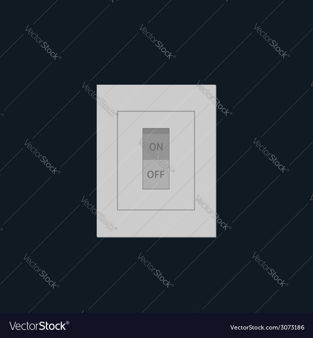 Light switch on off tumbler in flat design style vector | Price: 1 Credit (USD $1)