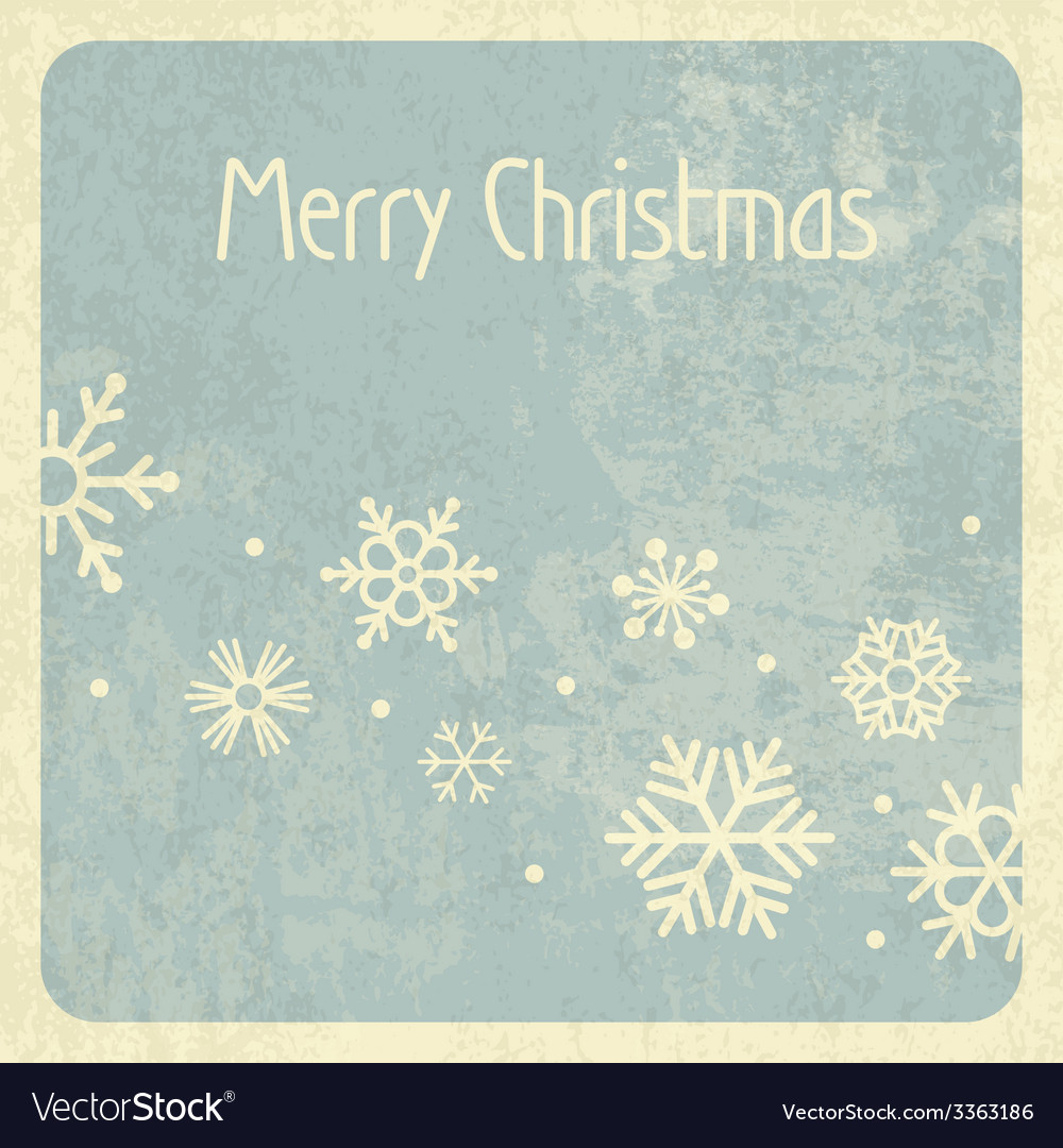 Merry christmas retro card vector | Price: 1 Credit (USD $1)