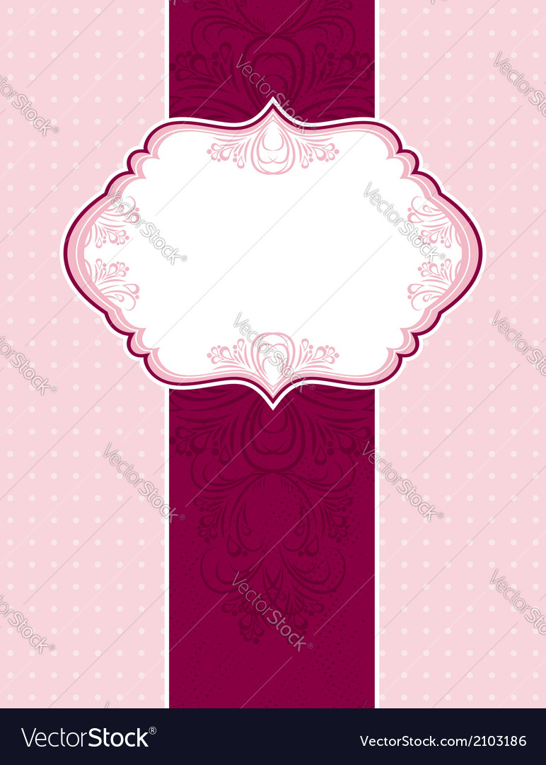 Pink classical background with decorative ornament vector   Price: 1 Credit (USD $1)