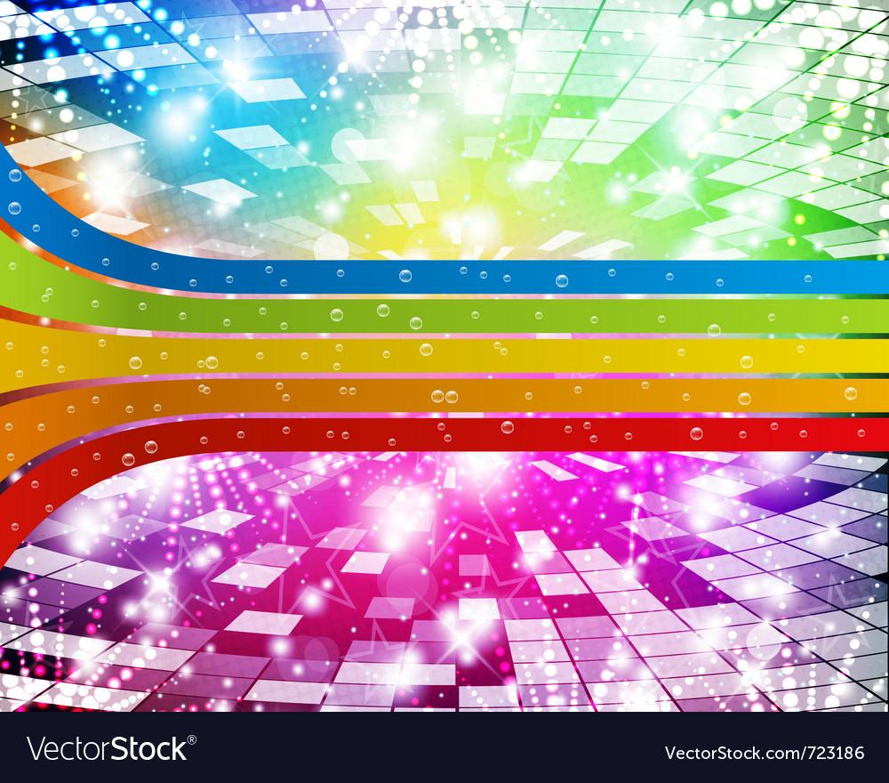 Rainbow-disco vector | Price: 1 Credit (USD $1)