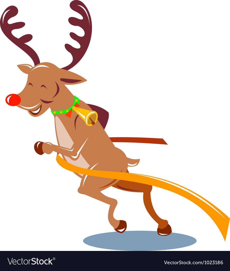 Reindeer running vector | Price: 1 Credit (USD $1)