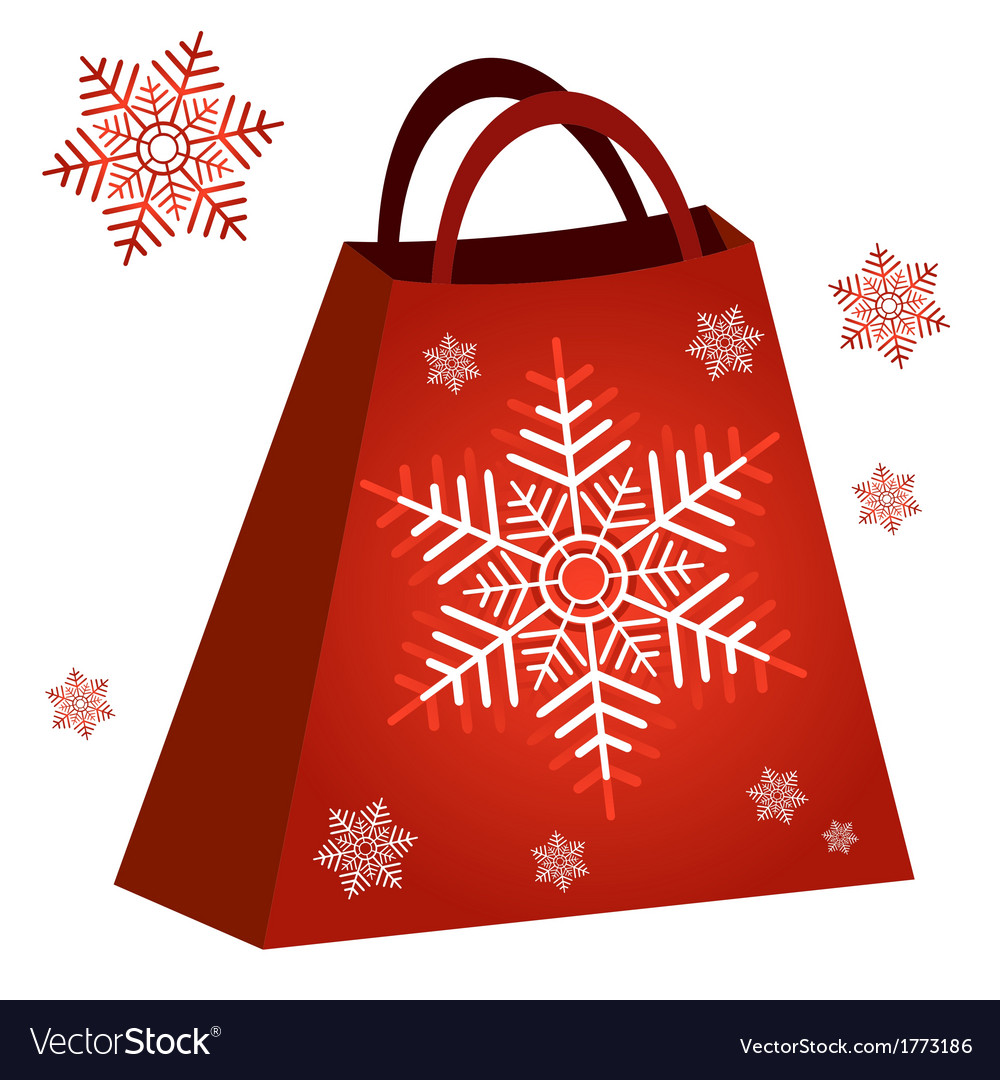 Shopping red bag vector | Price: 1 Credit (USD $1)