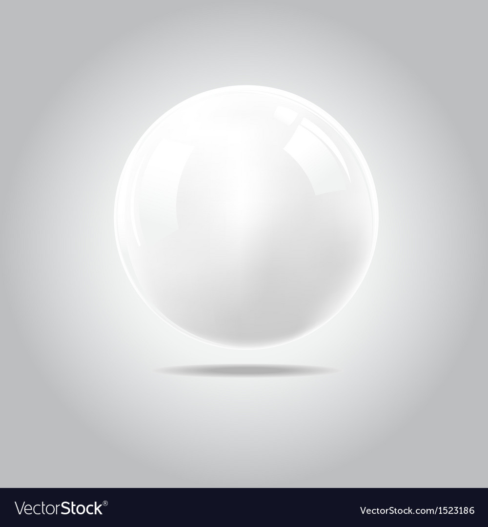 White ball vector | Price: 1 Credit (USD $1)
