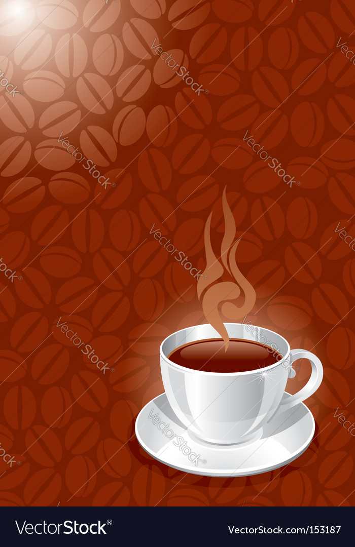 Background with white glossy cup vector | Price: 1 Credit (USD $1)
