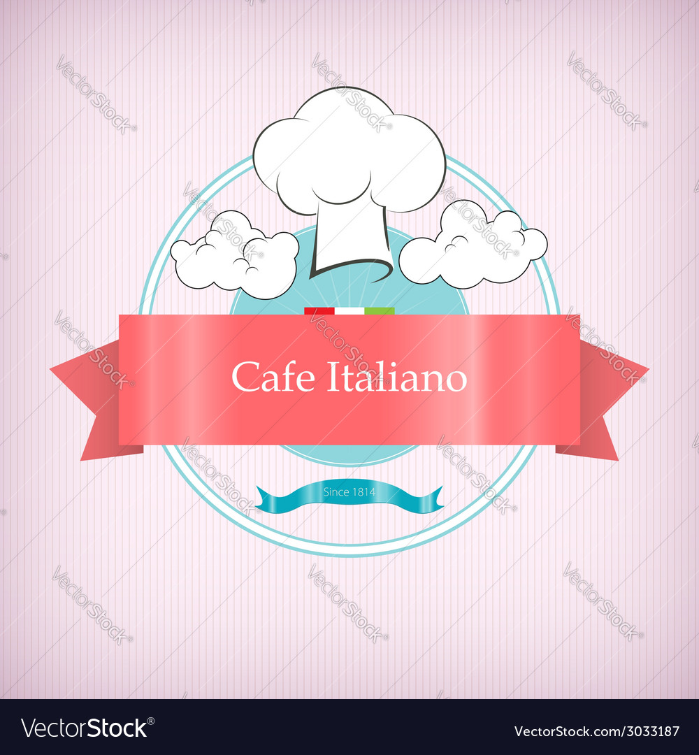 Cafe logo icon with toque in the clouds vector | Price: 1 Credit (USD $1)