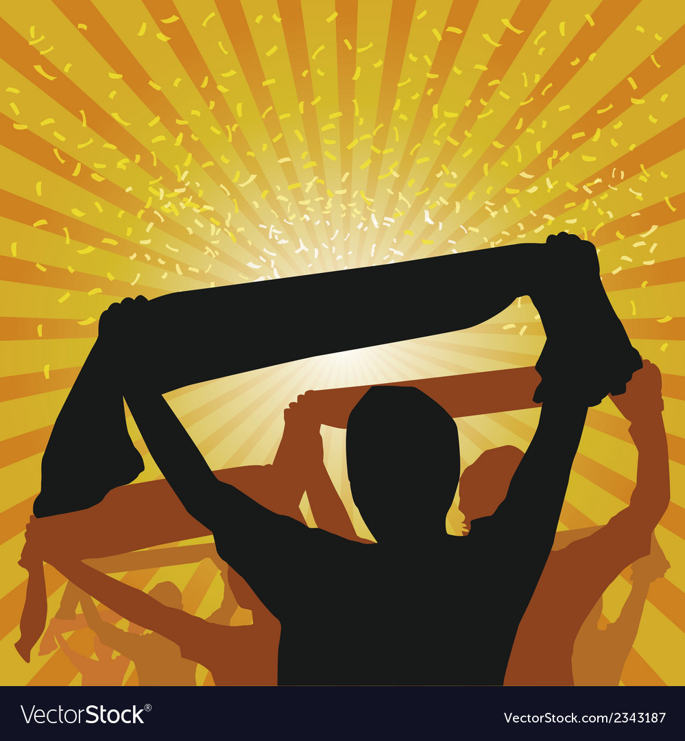 Cheering crowd vector | Price: 1 Credit (USD $1)