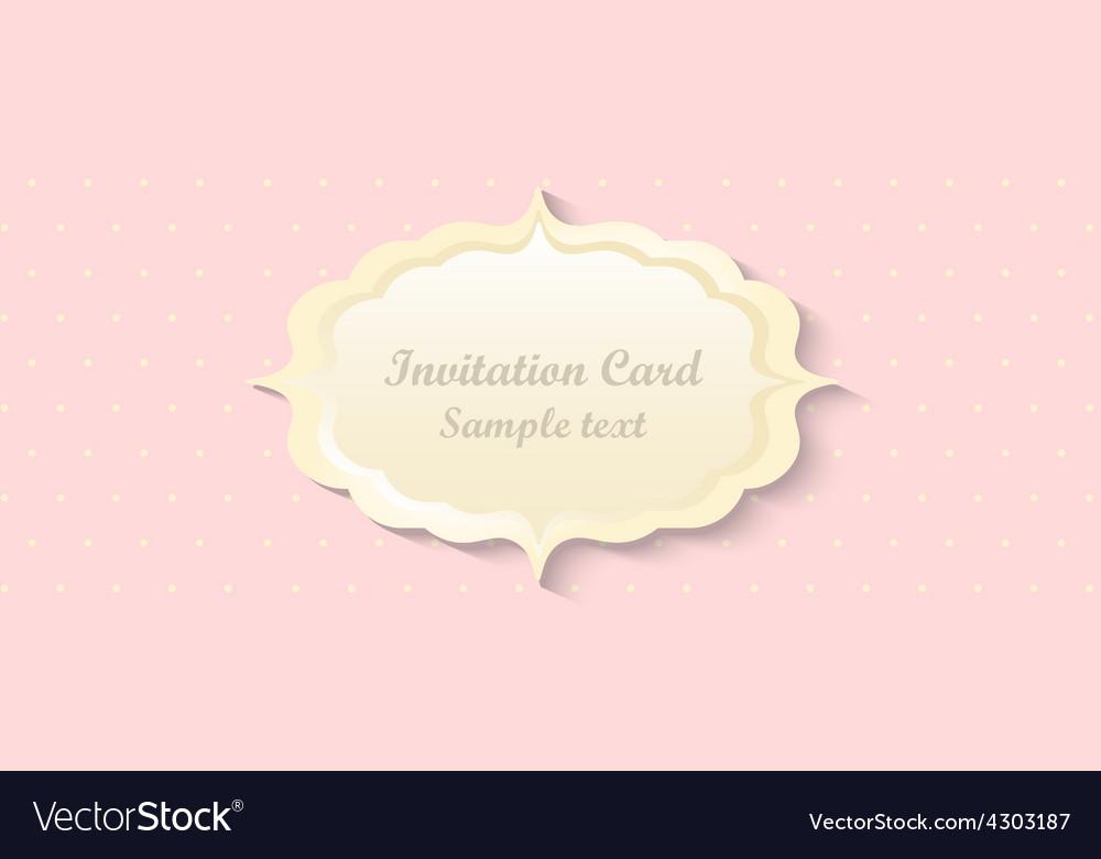 Classic romantic invitation design vector   Price: 1 Credit (USD $1)