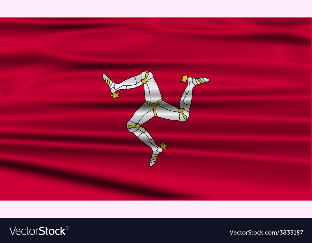 Flag isle of man with old texture vector | Price: 1 Credit (USD $1)