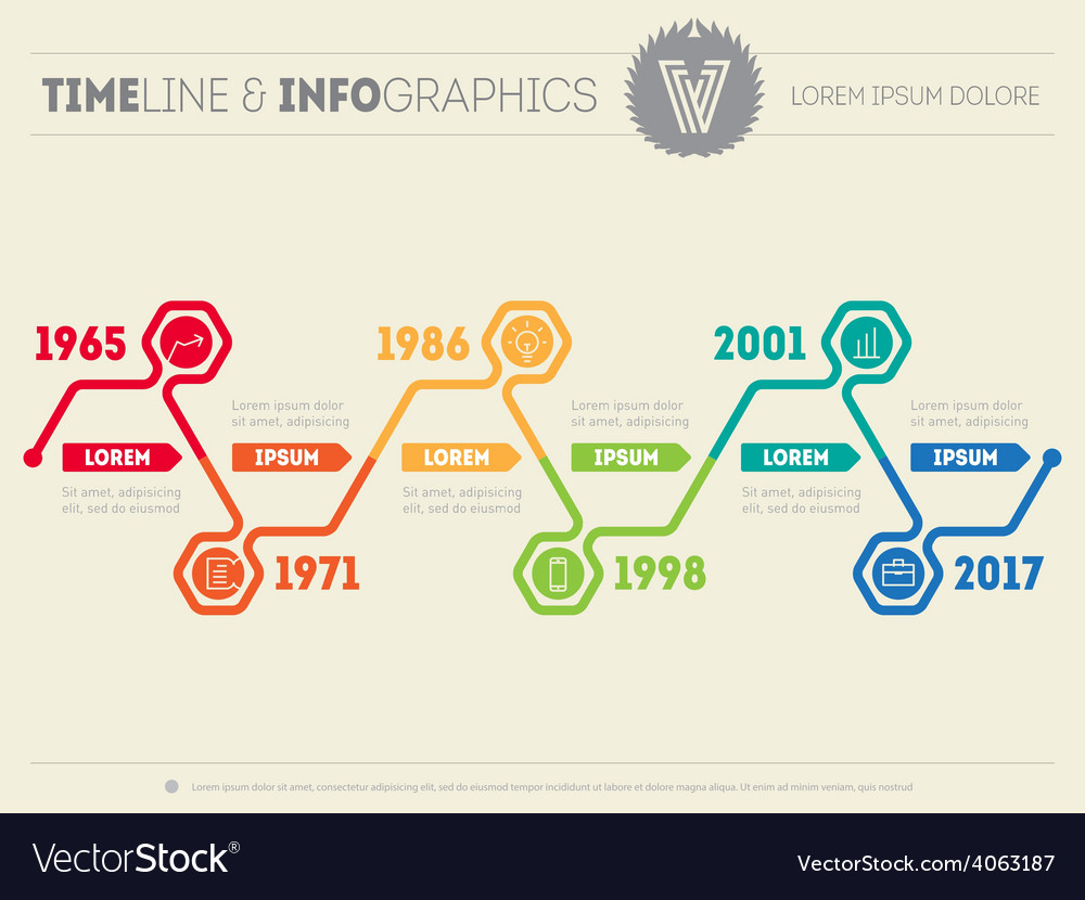 Horizontal infographic timelines web template for vector | Price: 1 Credit (USD $1)