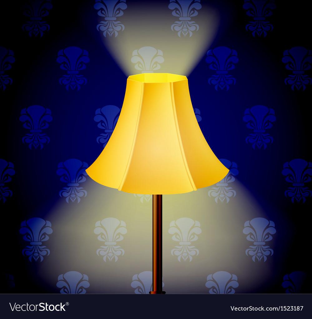 Lamp in dark vector | Price: 1 Credit (USD $1)