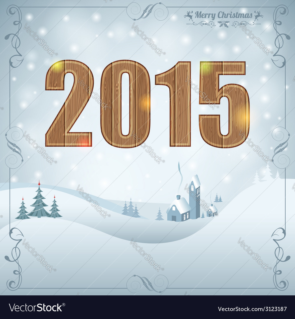 New year background vector | Price: 1 Credit (USD $1)