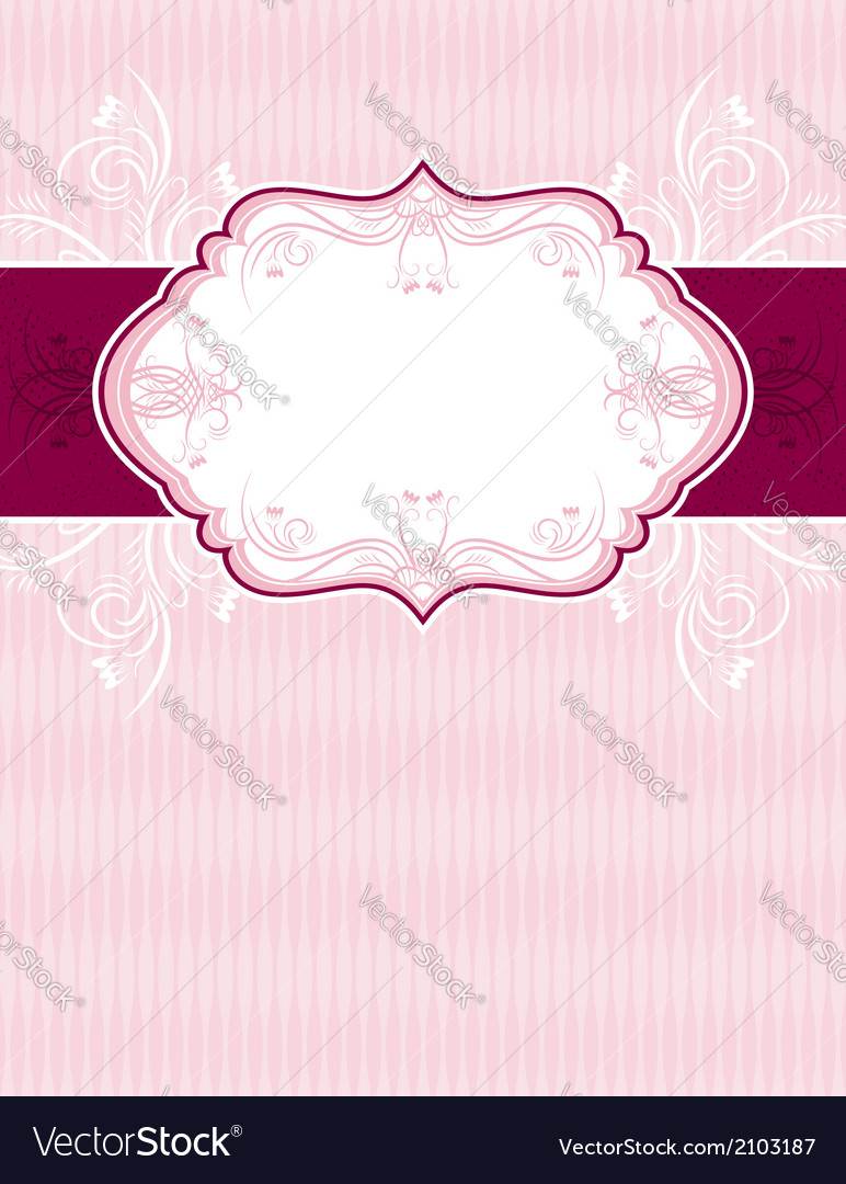 Pink classical background with decorative ornament vector | Price: 1 Credit (USD $1)