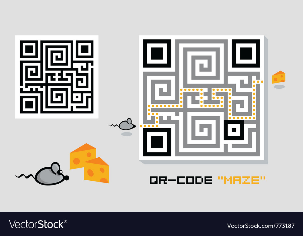 Qr-code maze vector | Price: 1 Credit (USD $1)