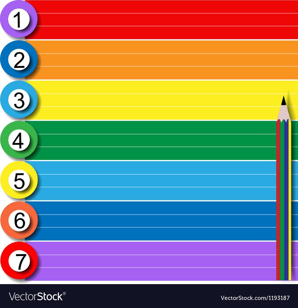 Rainbow notebook vector | Price: 1 Credit (USD $1)