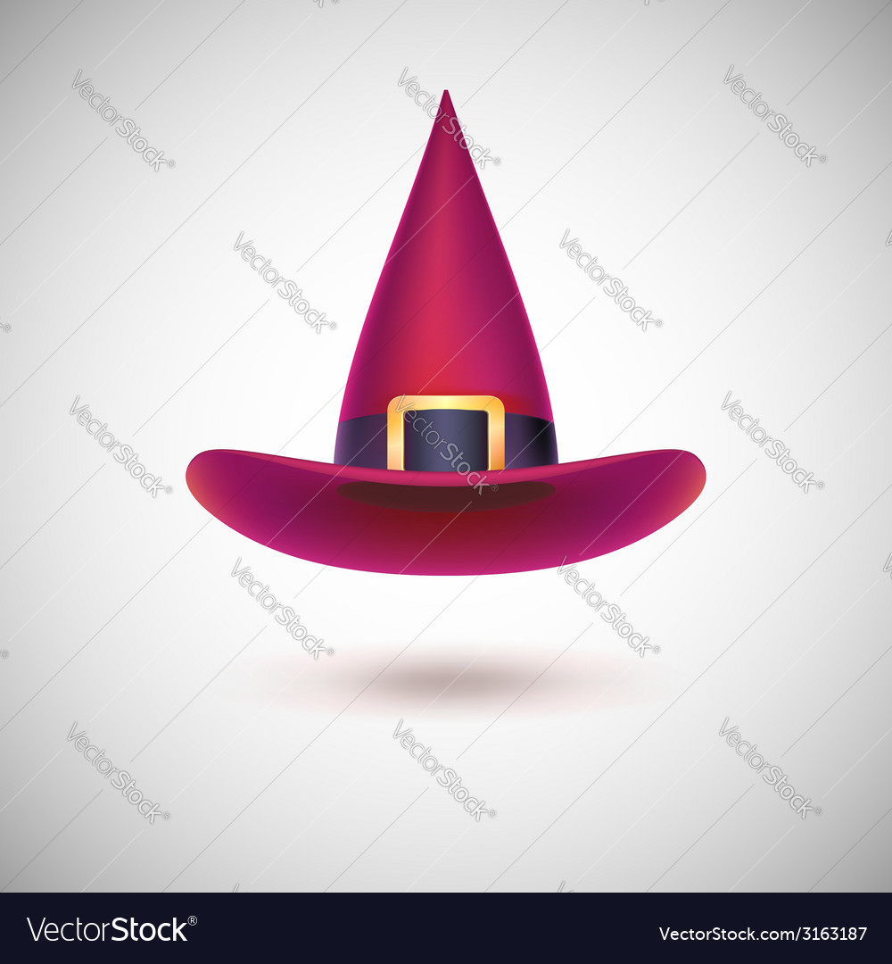 Red witch hat for halloween vector | Price: 1 Credit (USD $1)