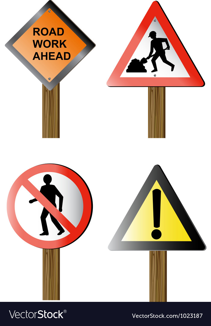 Road signs and symbols vector | Price: 1 Credit (USD $1)