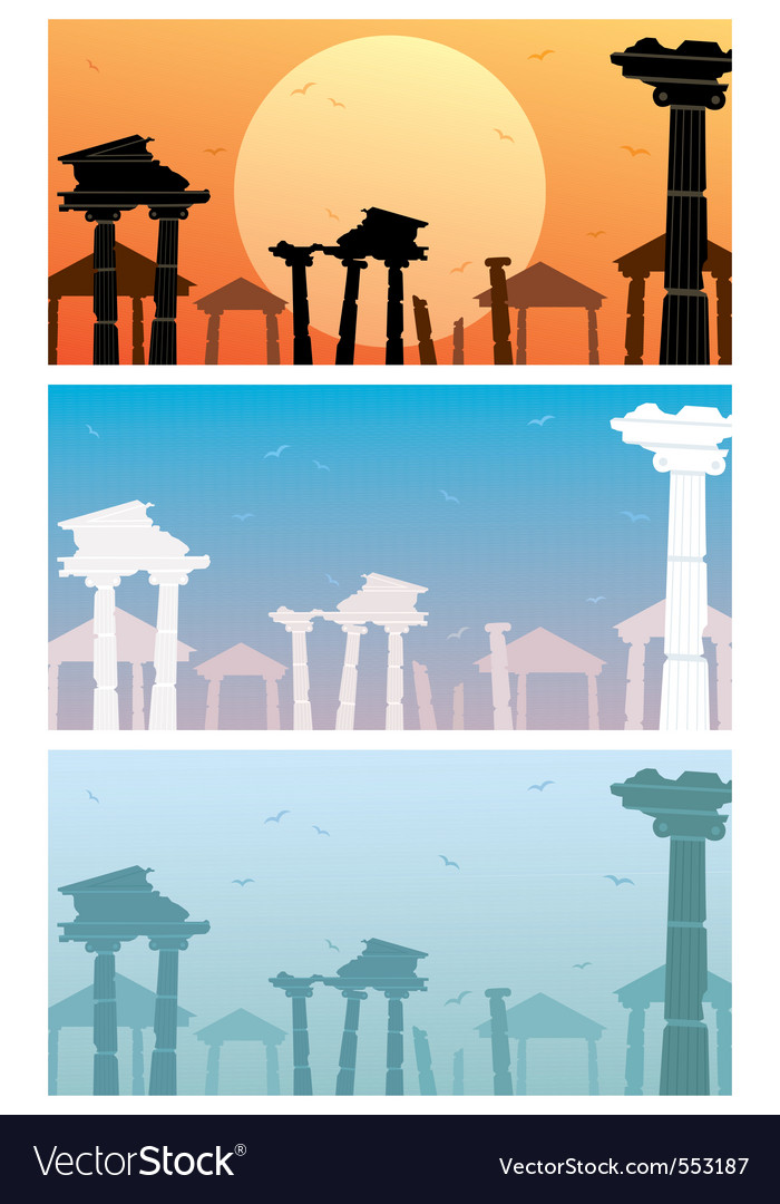 Ruins vector | Price: 1 Credit (USD $1)