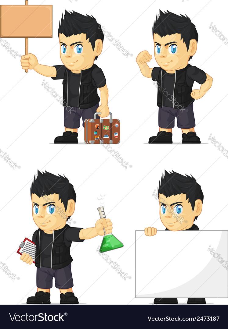 Spiky rocker boy customizable mascot 19 vector   Price: 1 Credit (USD $1)