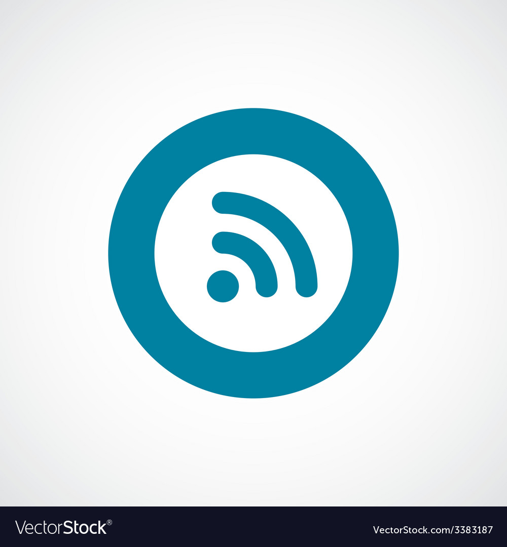 Wifi bold blue border circle icon vector | Price: 1 Credit (USD $1)