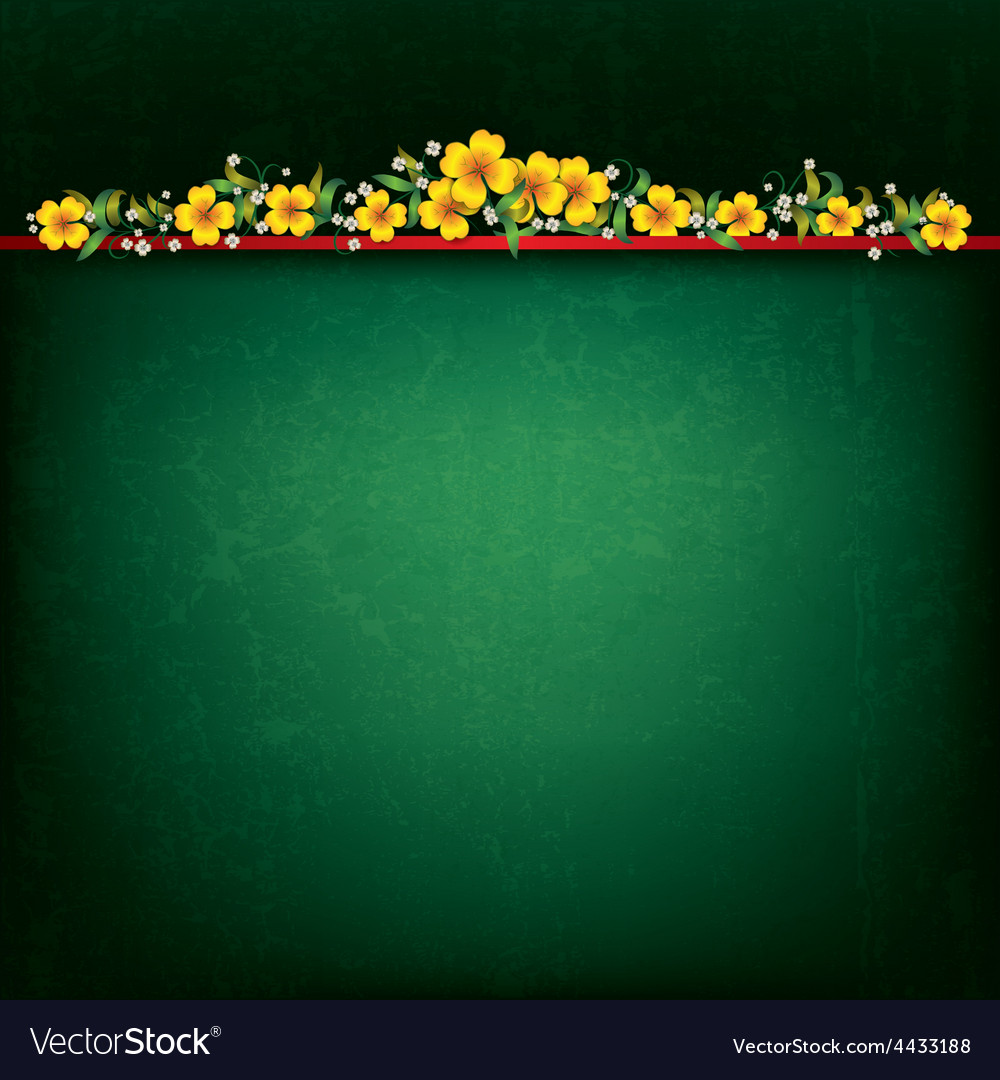 Abstract green grunge background with yellow vector | Price: 1 Credit (USD $1)