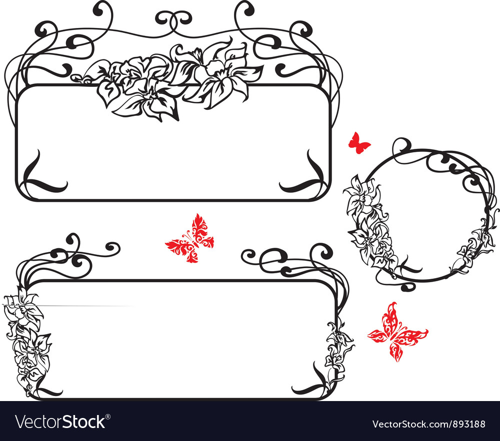 Banner art nouveau style vector | Price: 1 Credit (USD $1)