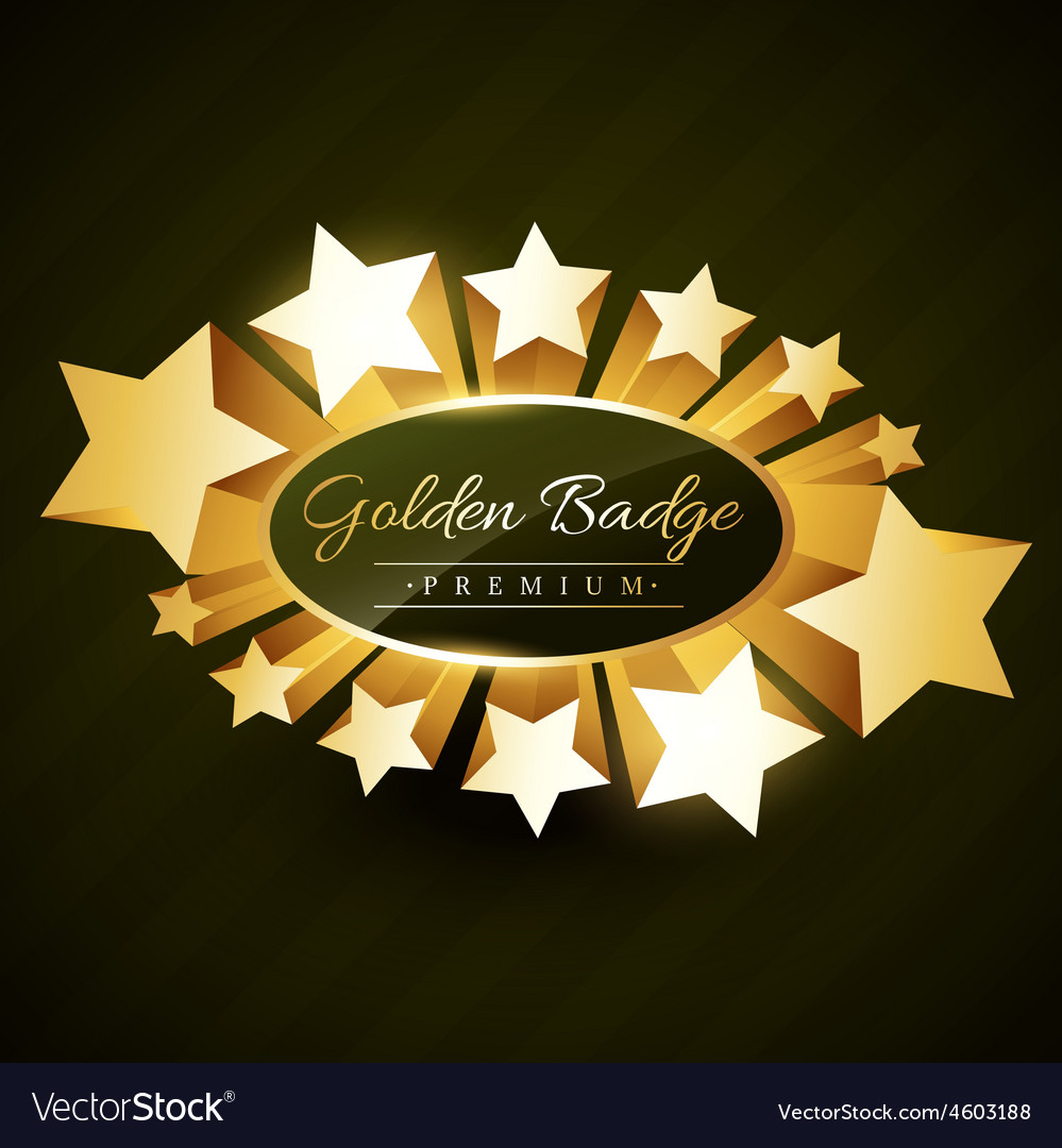 Beautiful golden star burst label vector | Price: 1 Credit (USD $1)