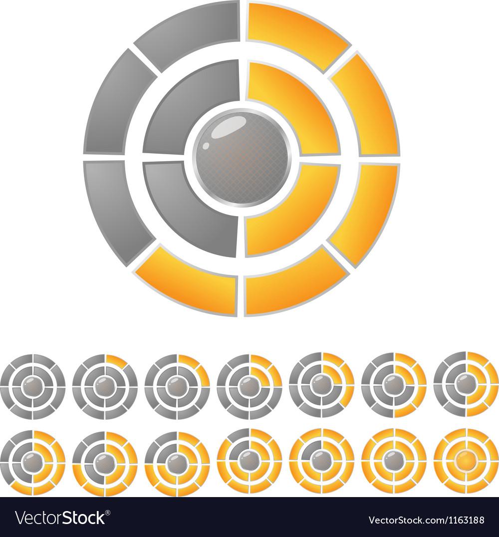 Circle download bar vector | Price: 1 Credit (USD $1)