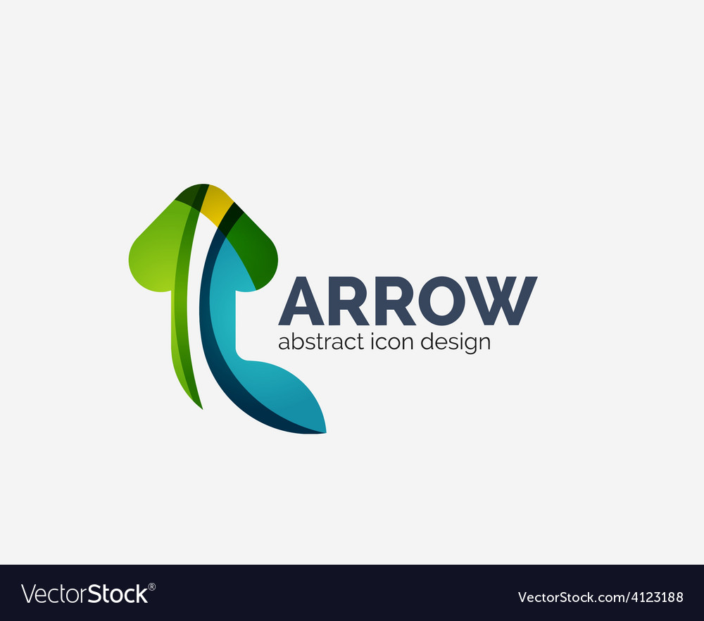 Clean moden wave design arrow logo vector   Price: 1 Credit (USD $1)
