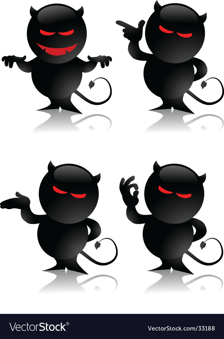 Devil toy gestures vector | Price: 3 Credit (USD $3)