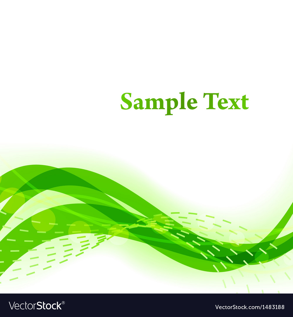 Green wavy background with white copy space vector | Price: 1 Credit (USD $1)