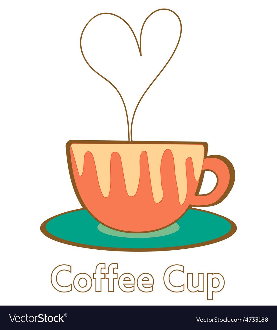 Heart coffee cup vector | Price: 1 Credit (USD $1)