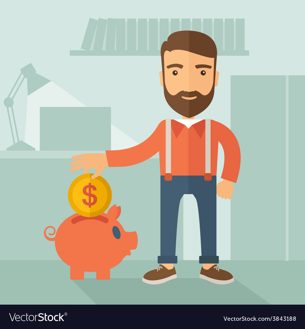 Money savings concept vector | Price: 1 Credit (USD $1)