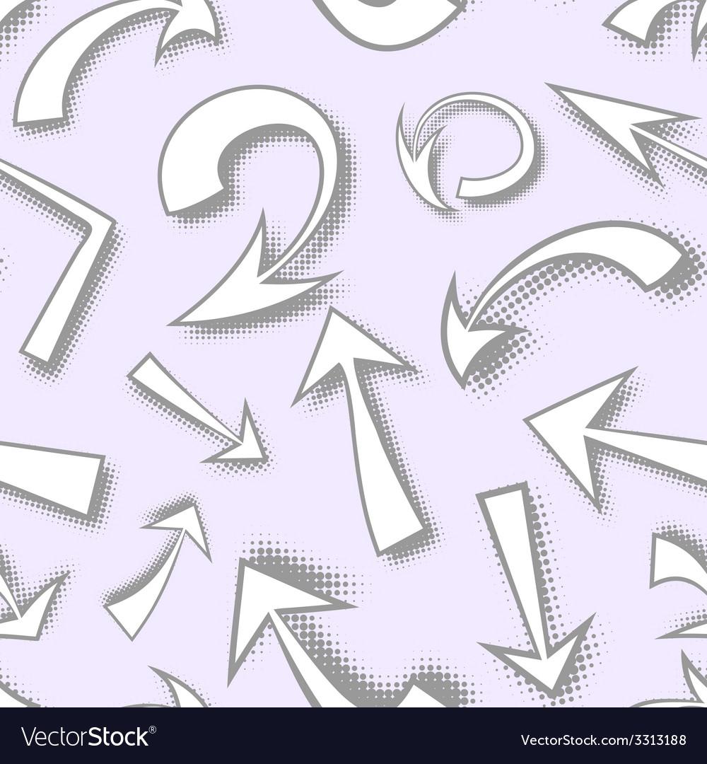 Seamless pattern of hand drawn monochrome comics vector | Price: 1 Credit (USD $1)