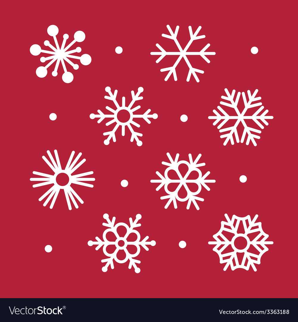 Simple snowflakes collection vector | Price: 1 Credit (USD $1)