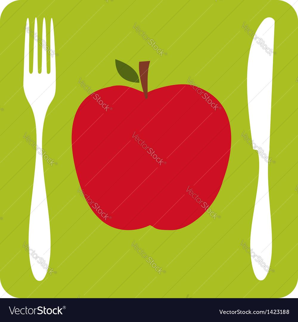 Vegetarian restaurant icon vector | Price: 1 Credit (USD $1)