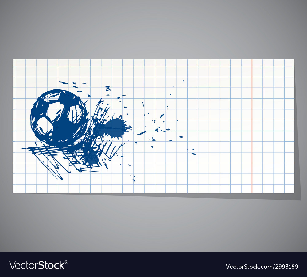 A hand-drawn football ball vector | Price: 1 Credit (USD $1)