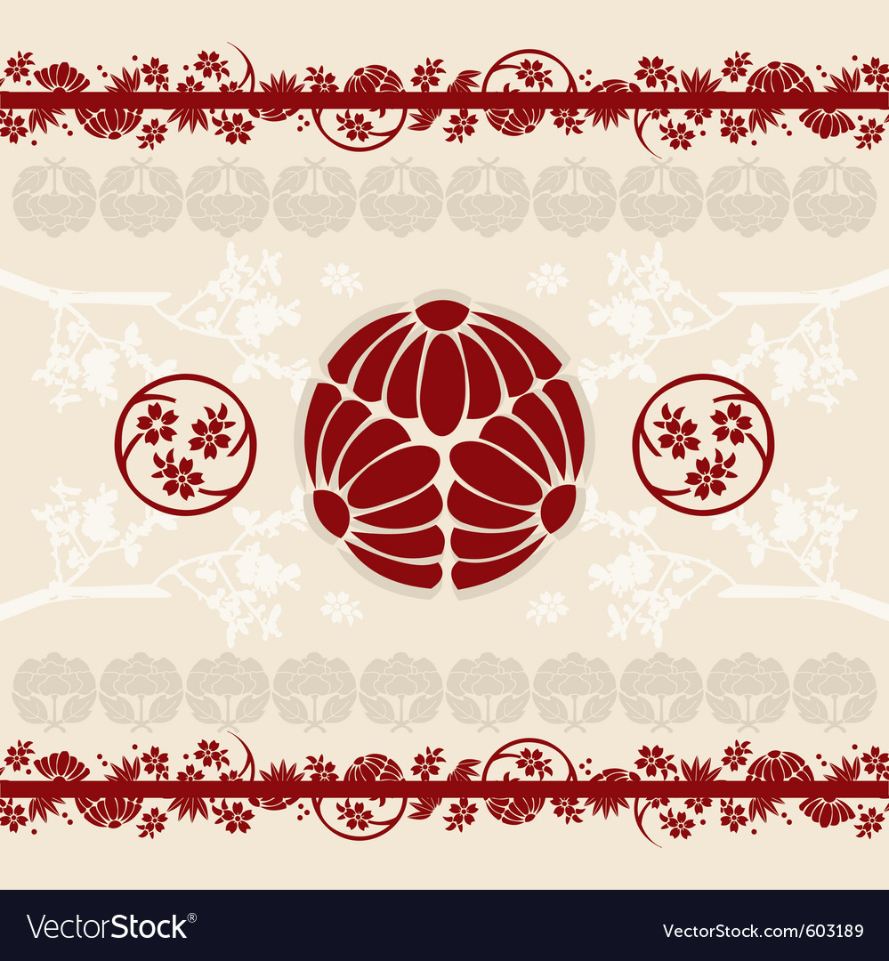 Asian designs background vector | Price: 1 Credit (USD $1)