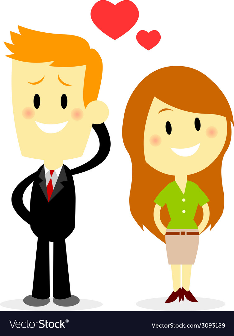Business couple vector | Price: 1 Credit (USD $1)