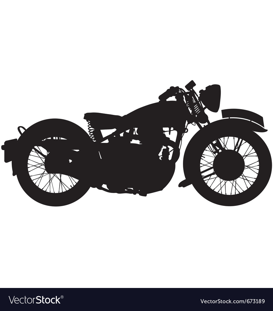 Classic motorbike silhouette vector | Price: 1 Credit (USD $1)
