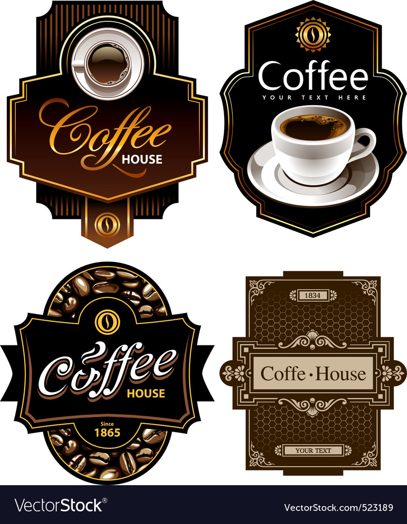 Coffee label vector | Price: 3 Credit (USD $3)
