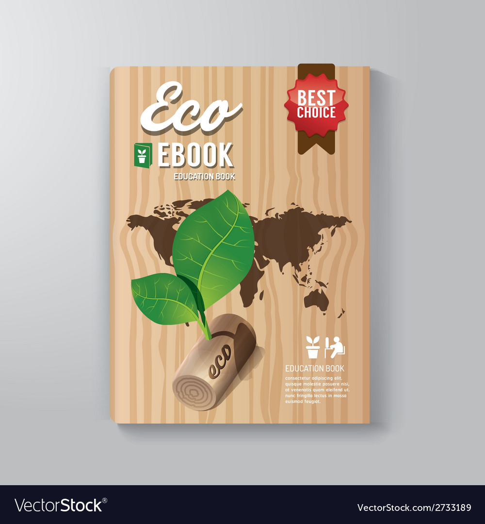Cover book digital design template eco concept vector | Price: 1 Credit (USD $1)
