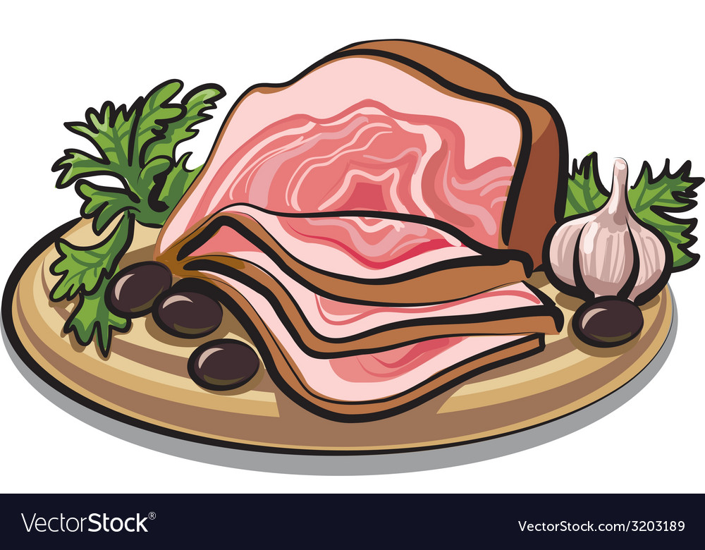 Fresh bacon vector   Price: 3 Credit (USD $3)