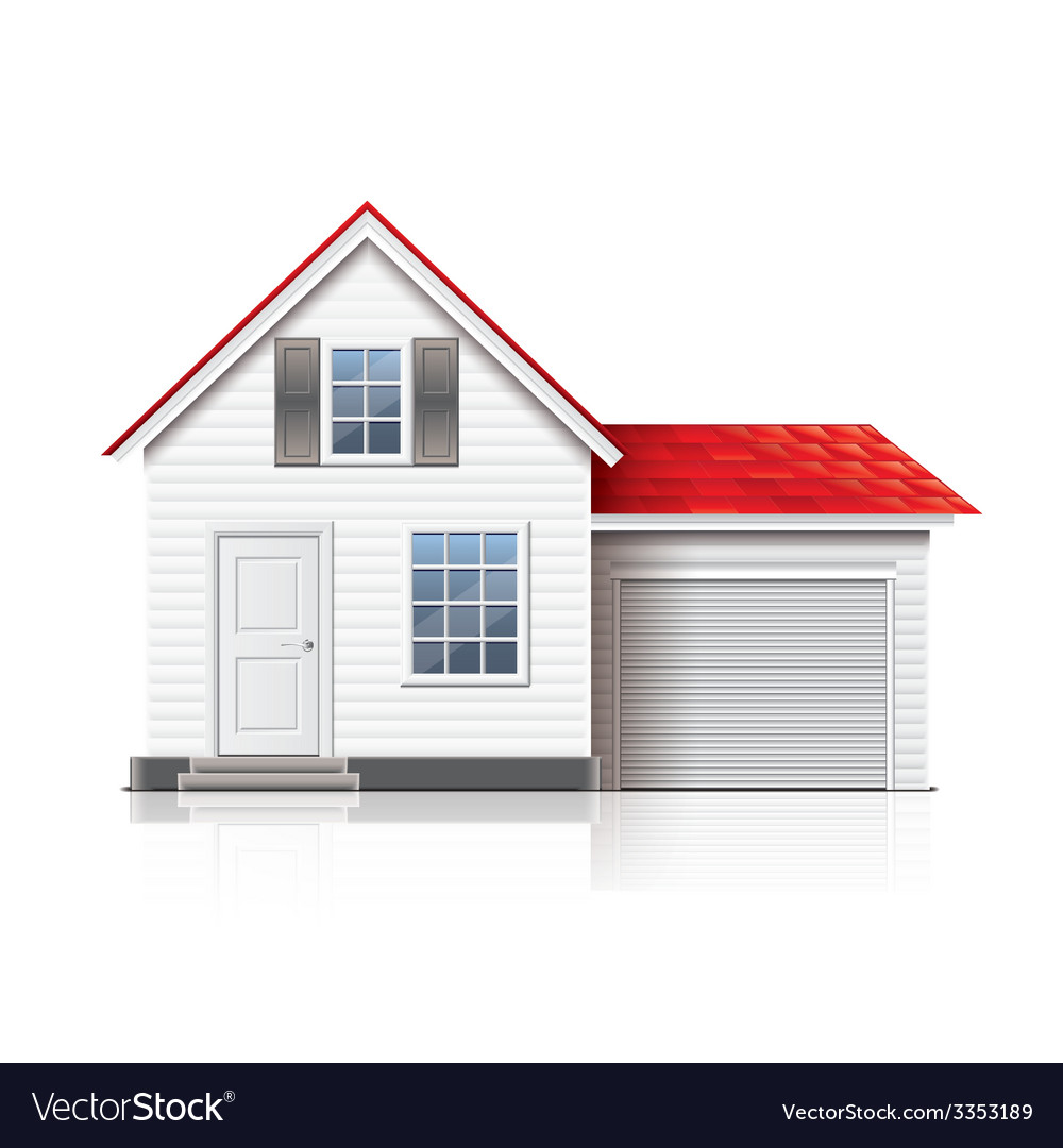 House isolated vector | Price: 3 Credit (USD $3)