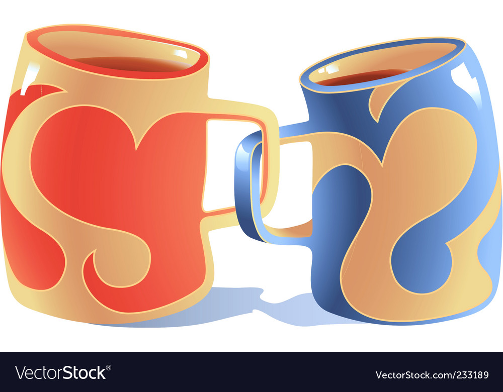 Mugs in love vector | Price: 3 Credit (USD $3)