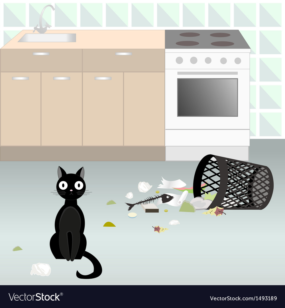 Naughty cat 5 vector | Price: 3 Credit (USD $3)