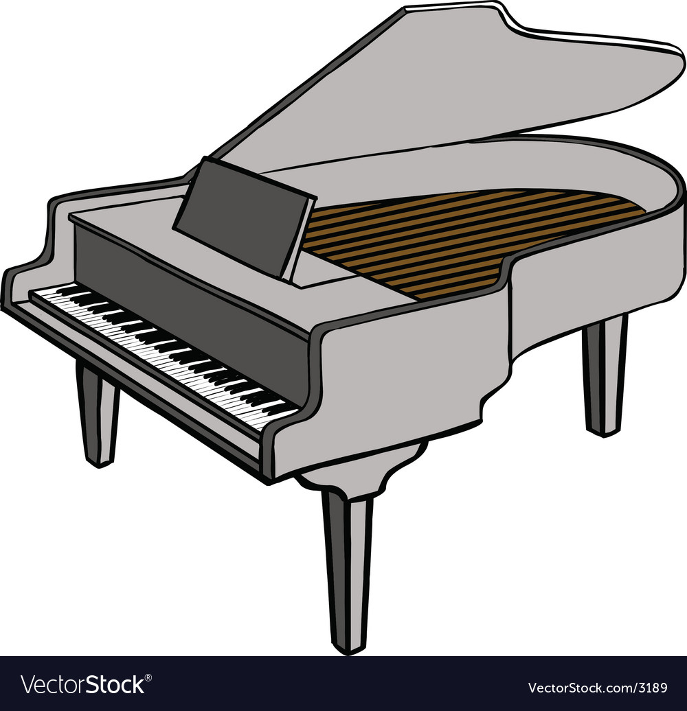 Piano instrument vector | Price: 1 Credit (USD $1)