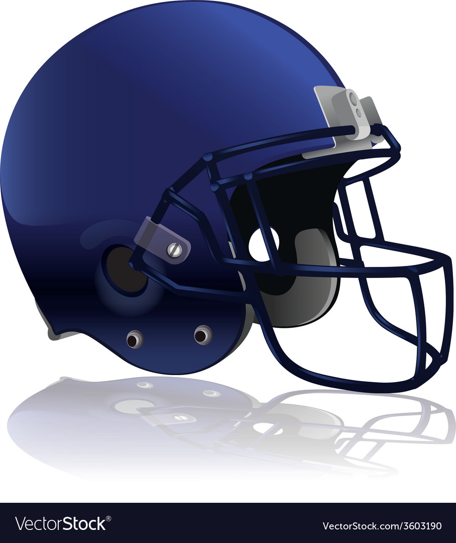 American football helmet isolated vector | Price: 1 Credit (USD $1)