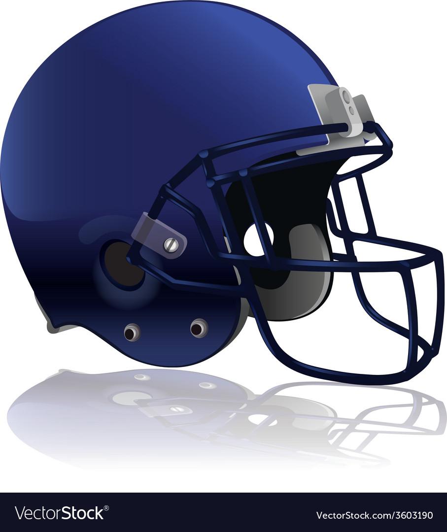 American football helmet isolated vector | Price: 1 Credit (USD $1)
